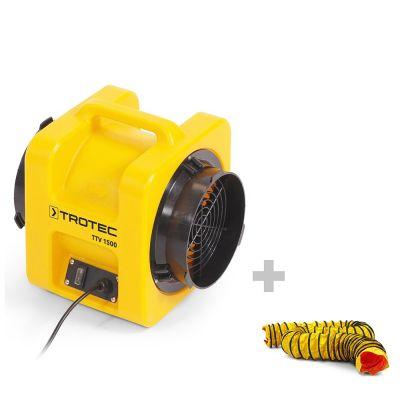 Ventilateur de transport TTV 1500 + Gaine SP-T 203 mm