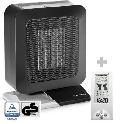 Chauffage soufflant céramique TFC 13 E + Thermo-hygromètre / Station météo BZ06