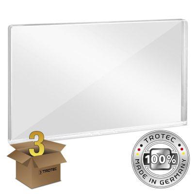 Plaque de protection acrylique pour bureau 1158 x 69 x 688 en lot de 3