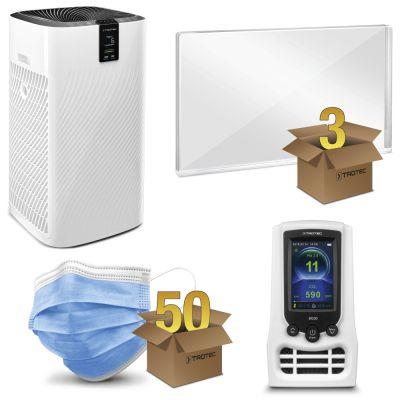 Set de protection bureau MEDIUM avec purificateur d'air AirgoClean® 250 E