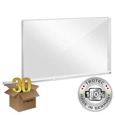 Plaque de protection acrylique à usage scolaire SMALL 800 x 69 X 500 en lot de 30