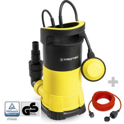 Pompe de relevage pour eau claire TWP 9005 E + Rallonge haute qualité 15 m 230 V 1,5 mm²