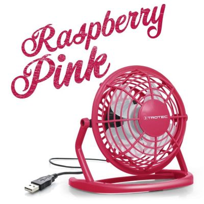 Ventilateur de table USB rose framboise TVE 1P