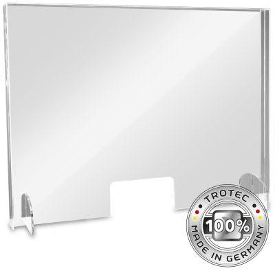 Panneau de protection acrylique pour comptoir LARGE 995 x 250 x 750