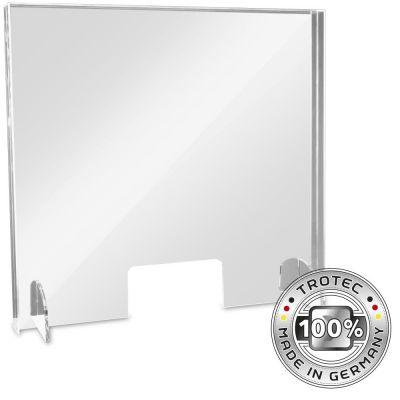 Panneau de protection acrylique pour comptoir MEDIUM 795 x 250 X 750