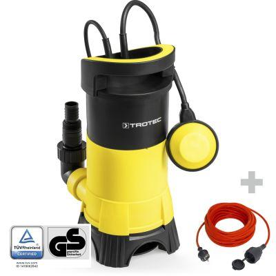 Pompe de relevage pour eaux usées TWP 11025 E + Rallonge haute qualité 15 m 230 V 1,5 mm²
