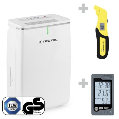 Déshumidificateur TTK 72 E + Thermo-hygromètre BZ05 + Testeur de pression BY10