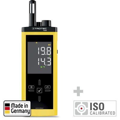 Thermo-hygromètre infrarouge T260 étalonné selon ISO I.2101