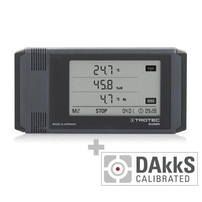 Enregistreur de données DL200H étalonné selon DAkkS D.2102