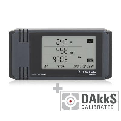 Enregistreur de données DL200D étalonné selon DAkkS D.2102