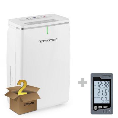 Déshumidificateur TTK 72 E en lot de 2 + Thermo-hygromètre BZ05