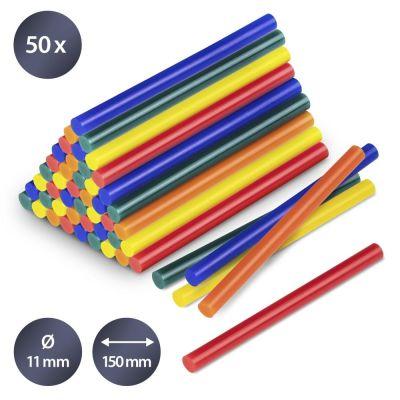 Bâtonnets de colle de couleur (50 pces ø 11 mm)
