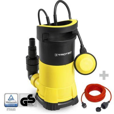 Pompe de relevage pour eau claire TWP 7505 E + Rallonge haute qualité 15 m 230 V 1,5 mm²