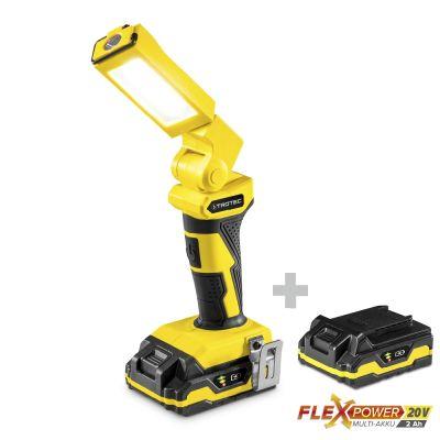 Lampe baladeuse PWLS 10-20V + Batterie de réserve Flexpower 20 V 2,0 Ah