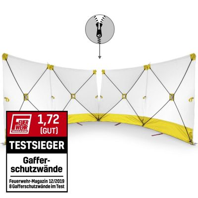 Écran VarioScreen 4 x 180x180 jaune à glissière