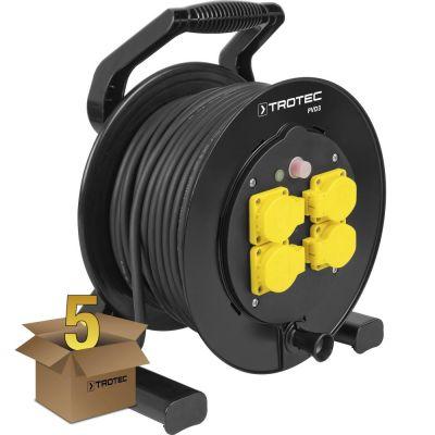 Enrouleur électrique PVD3 40 m noir en lot de 5