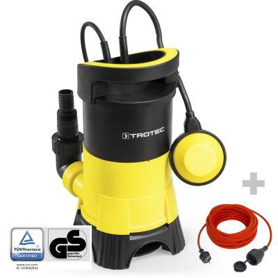 Pompe de relevage pour eaux chargées TWP 4025 E + Rallonge 15 m 230 V 1,5 mm²