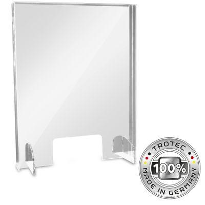 Panneau de protection acrylique pour comptoir SMALL 595 x 250 X 750