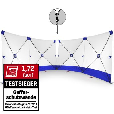 Écran VarioScreen 4 x 180x180 bleu à glissière