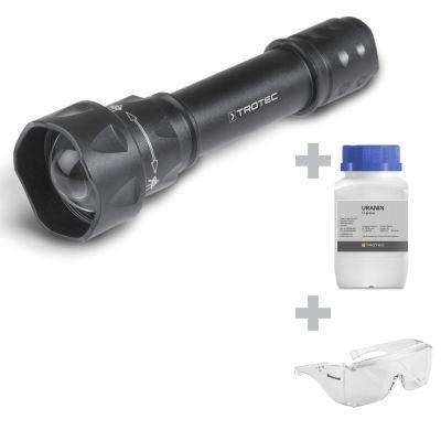 Lampe torche UV Torchlight 15F + Lunettes de protection + Fluorescéine
