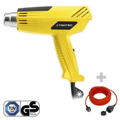 Pistolet à air chaud HyStream 200 + Rallonge haute qualité 15 m 230 V 1,5 mm²