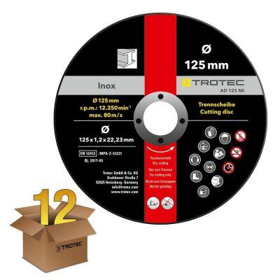 Disques de coupe pour métal et inox AD 125 MI (12 pces)