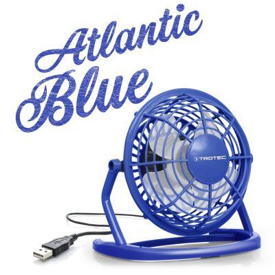 Ventilateur de table USB bleu atlantique TVE 1B