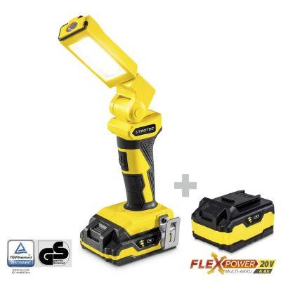 Lampe baladeuse PWLS 10-20V + Batterie de réserve Flexpower 20 V 4,0 Ah