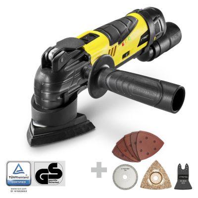 Outil multifonctions sans fil PMTS 10-12V + set 2 de 13 accessoires pour la rénovation de sanitaires