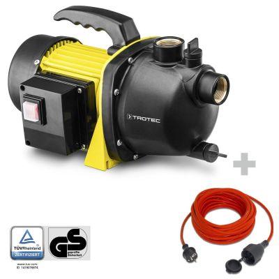 Pompe de jardin TGP 1000 E + Rallonge haute qualité 15 m 230 V 1,5 mm²