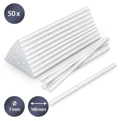 Bâtonnets de colle transparente (50 pces ø 7 mm)