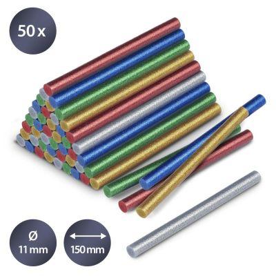 Bâtonnets de colle à paillettes (50 pces ø 11 mm)