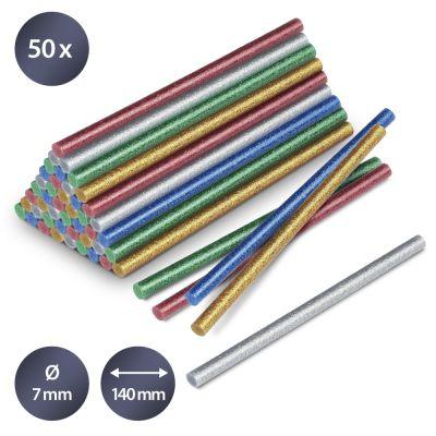 Bâtonnets de colle à paillettes (50 pces ø 7 mm)
