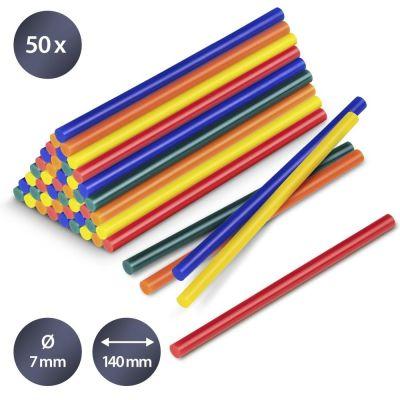Bâtonnets de colle de couleur (50 pces ø 7 mm)