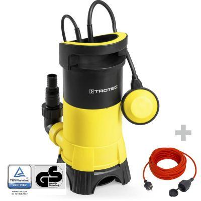 Pompe de relevage pour eaux chargées TWP 7025 E + Rallonge 15 m 230 V 1,5 mm²