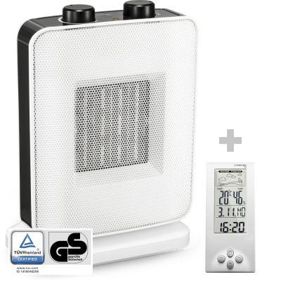 Chauffage soufflant céramique TFC 15 E + Thermo-hygromètre / Station météo BZ06
