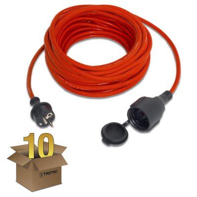 Rallonge haute qualité 15 m / 230 V / 1,5 mm² en lot de 10