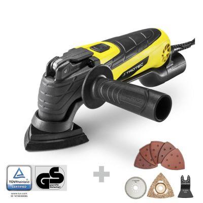 Outil multifonctions PMTS 10-230V + set 2 de 13 accessoires pour la rénovation de sanitaires