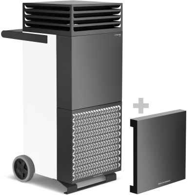 Purificateur d'air TAC V+ blanc/noir + Capot insonorisant