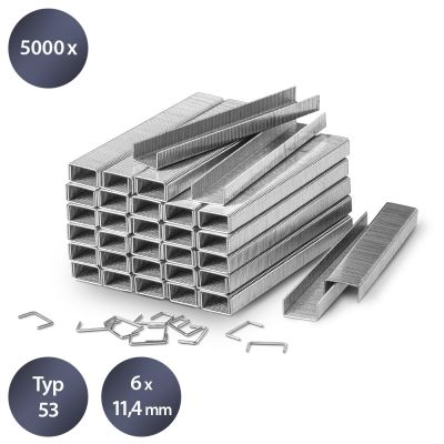 Set de 5000 agrafes de type 53, L 6 mm