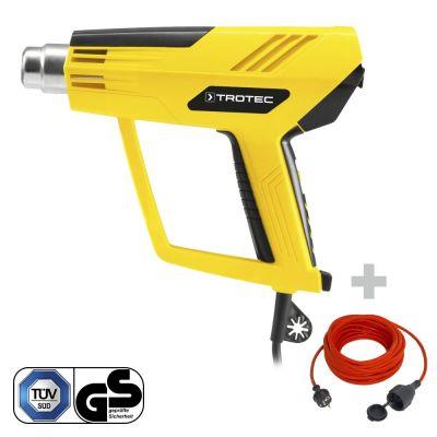 Pistolet à air chaud HyStream 2100 + Rallonge haute qualité 15 m 230 V 1,5 mm²