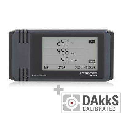 Enregistreur de données DL200H étalonné selon DAkkS D.2101