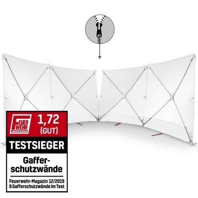 Écran VarioScreen 4 x 180x180 blanc à glissière