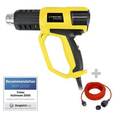 Pistolet à air chaud HyStream 2000 + Rallonge haute qualité 15 m 230 V 1,5 mm²