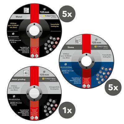 Set de disques à tronçonner et dégrossir (11 pièces)