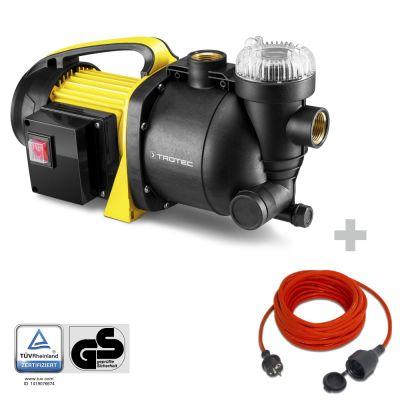Pompe de jardin à filtre intégré TGP 1005 E + Rallonge haute qualité 15 m 230 V 1,5 mm²