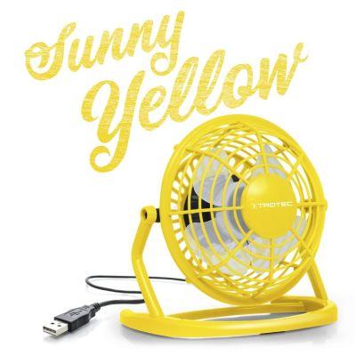 Ventilateur de table USB jaune soleil TVE 1Y