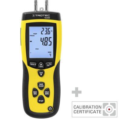 Anémomètre TA400 à tube de Pitot avec certificat d'étalonnage