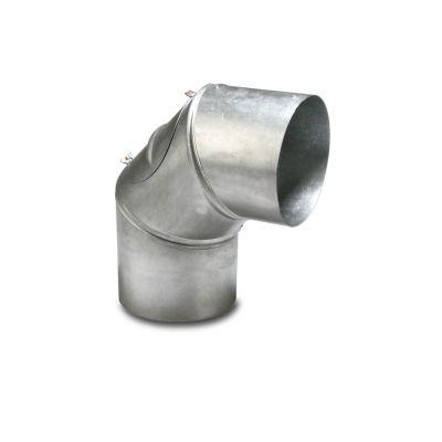 Coude à 90° pour tuyaux d'évacuation des gaz 120 mm