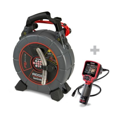 Caméra de canalisation SeeSnake microReel + caméra d'inspection numérique micro CA-350